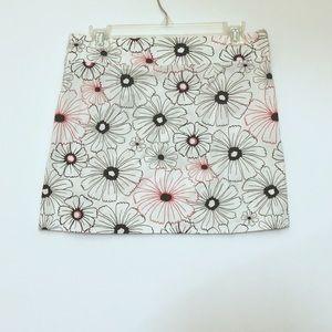 HeartSoul White Floral Print Mini Skirt